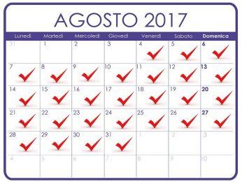 Chiusura ufficio nel mese di agosto