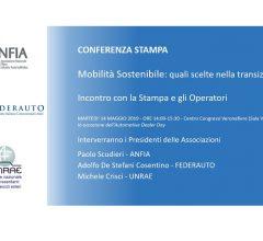 Conferenza Stampa ANFIA, FEDERAUTO, UNRAE -
