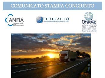 Comunicato congiunto ANFIA, FEDERAUTO, UNRAE: Il comparto veicoli industriali trema per gli effetti del coronavirus che colpiscono un settore già messo a dura prova
