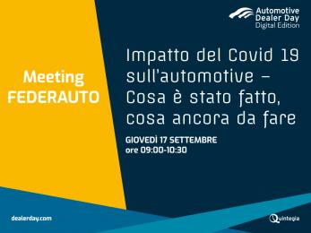 Meeting Federauto in occasione di Automotive Dealer Day, nella giornata del 17 settembre 2020